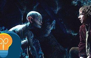 Adivinanzas del hobbit con bilbo y gollum