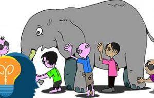 Elefante y niños de dibujos adivinanza
