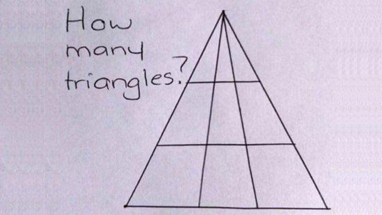 acertijo de los triángulos