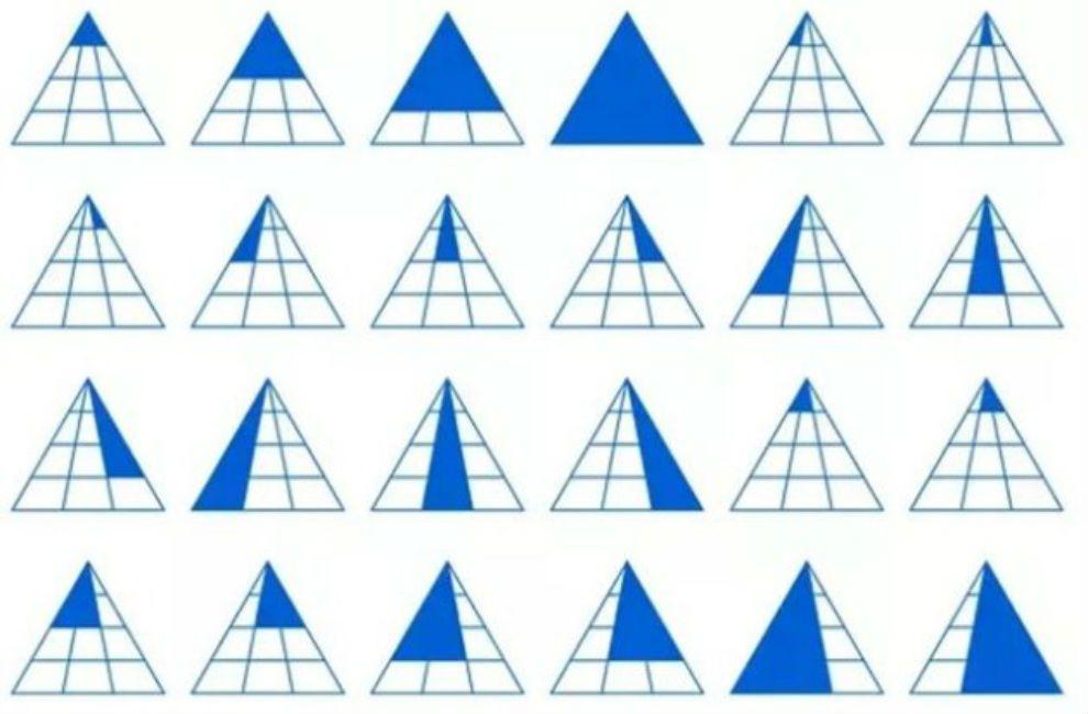 solución al acertijo de los triángulos